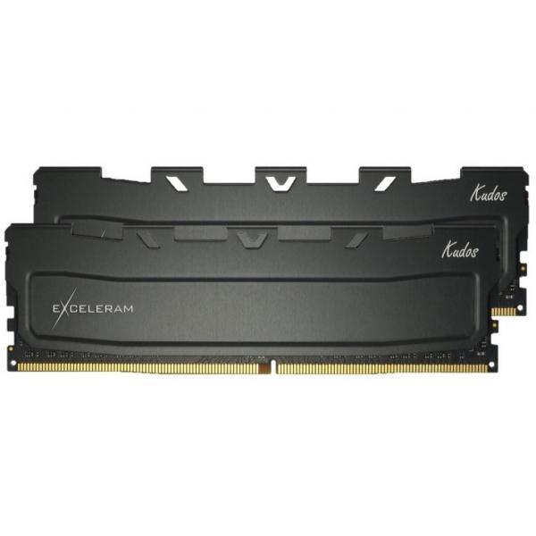 Модуль памяти для компьютера DDR4 32GB (2x16GB) 2400 MHz Black Kudos eXceleram (EKBLACK4322417CD)