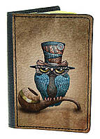 Обложка для паспорта DevayS Maker DM 03 Сова Коричневая 01-0103-427, КОД: 1238334