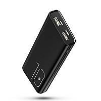 УМБ Power Bank Usams 10000 mAh mini 2xUSB, входы Micro USB USB Type-C Черный US-CD93-BL, КОД: 1810232