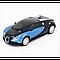 Машинка Трансформер Bugatti Veyron Car Robot Size 1:18 З ПУЛЬТОМ Маленька Синя, фото 3