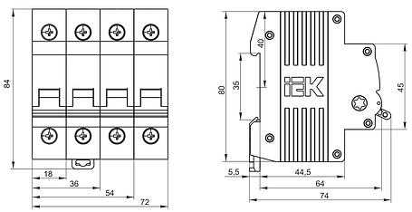 Выключатель нагрузки (мини-рубильник) ВН-32 3Р 40А IEK, фото 2