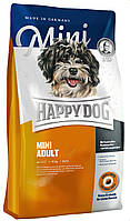 Cухой корм для взрослых собак мелких пород весом до 10 кг Happy Dog Mini Adult 300 г, КОД: 1618798