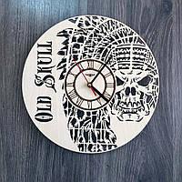 Деревянные настенные часы 7Arts Череп CL-0220, КОД: 1474352