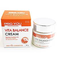Крем Pro You Professional Vita Balance Cream для обезвоженной кожи лица с витаминами 60 г 1115040, КОД: 1462184