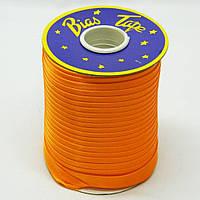 Косая бейка Super 3021 атласная 1.5 см х 100 м Оранжевая Bios-3021, КОД: 1314941