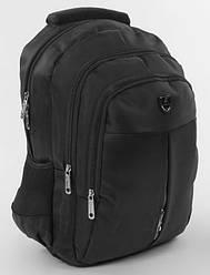 Школьный рюкзак для мальчиков черный змейка посередине