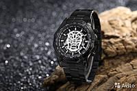 Часы мужские механические WINNER SKELETON ЧЕРЕП BLACK 1261, КОД: 1622484