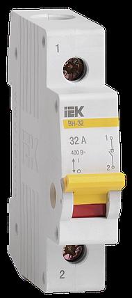 Выключатель нагрузки (мини-рубильник) ВН-32 1Р 32А IEK, фото 2