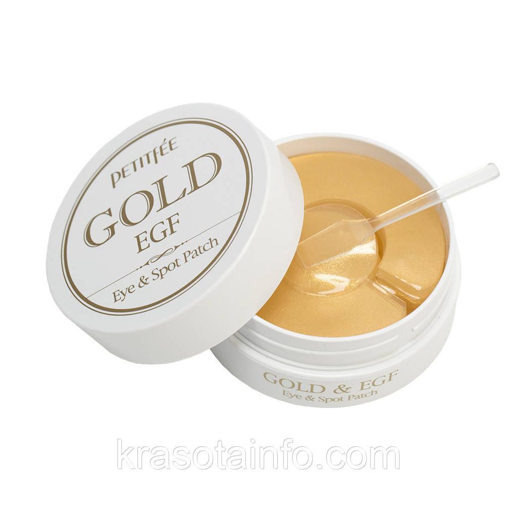 Гидрогелевые патчи под глаза Petitfee Gold & EGF Eye & Spot Patch 60 шт + 30 точечных патчей Корея 60 шт