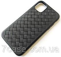 Чехол для Apple iPhone 11 плетеный TPU Woven черный