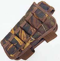 Патронташ на приклад для левши  на 6 патронов камуфляж, фото 1