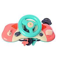 Автотренажер для малышей Kaichi Руль музыкальный с брелоком и ключами K999-120BR, КОД: 1390035