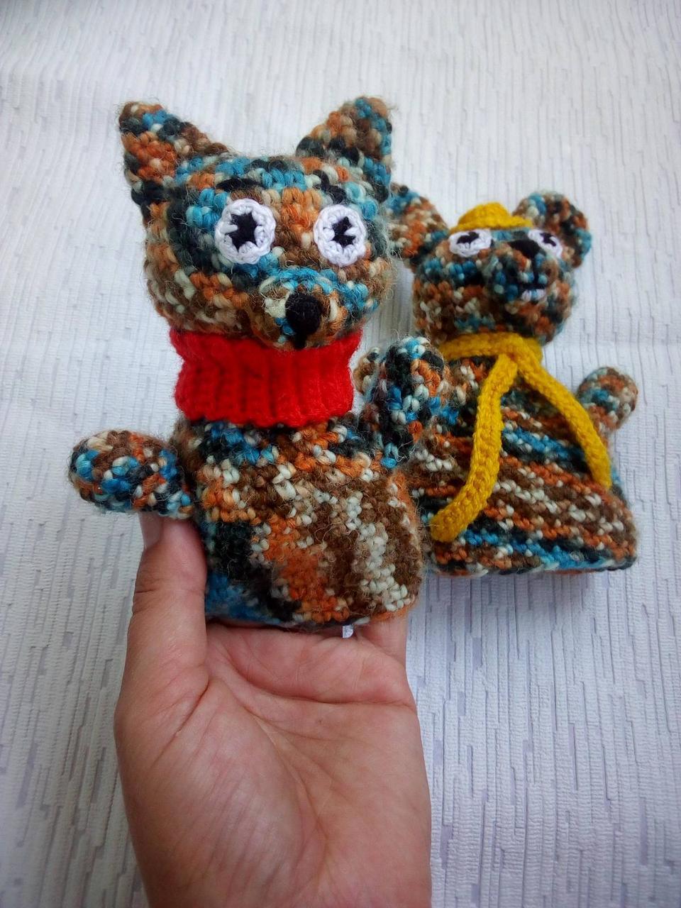 Игрушка перчатка котик и зайчик