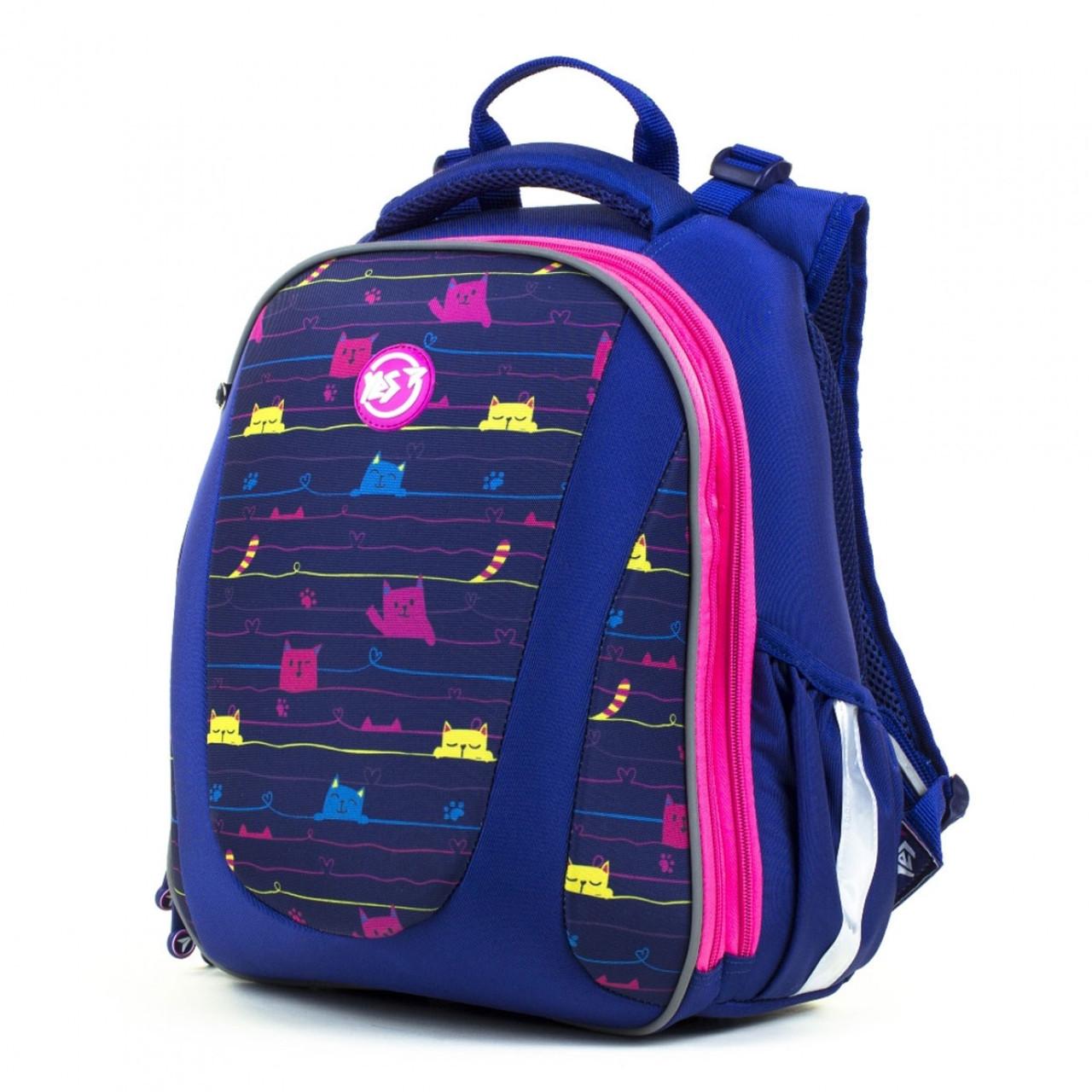 Рюкзак школьный каркасный для девочки YES 558040 H-28  Cats