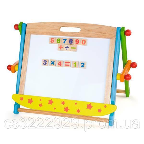 Доска Viga Toys магнитно-маркерная на подставке (59075)
