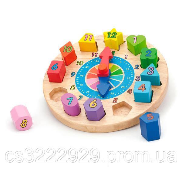 """Пазл Viga Toys """"Часы"""" (59235)"""