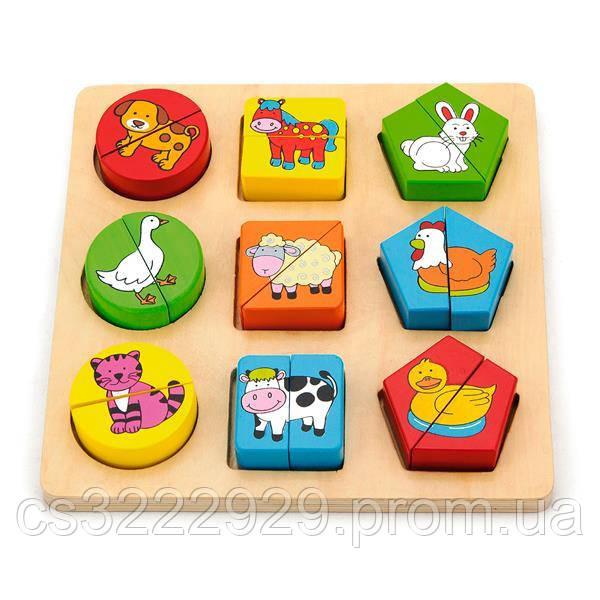 Пазл Viga Toys Формы и зверушки (59585)