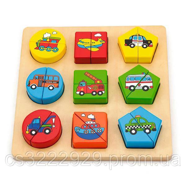 Пазл Viga Toys Формы и транспорт (59586)