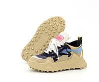 """Кроссовки женские ОFF-White 0dsy-1000 Sneaker """"Черные с бежевой подошвой"""" размер 36-40"""