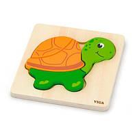 "Міні-пазл Viga Toys ""Черепаха"" (59933), фото 1"