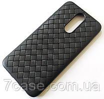 Чехол для Xiaomi Redmi 8 плетеный TPU Woven черный