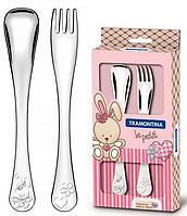 Набор столовых приборов Tramontina Baby Le Petit для детей 2 предмета Розовый psgTR-66973 015, КОД: 1132502