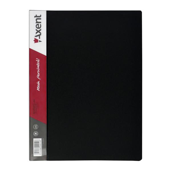 Папка з файлами Axent А4 дисплей-книга 10 файлів чорна 1010-01-А