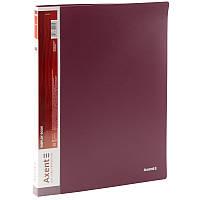 Папка з файлами Axent А4 дисплей-книга 20 файлів бордова 1020-04-А