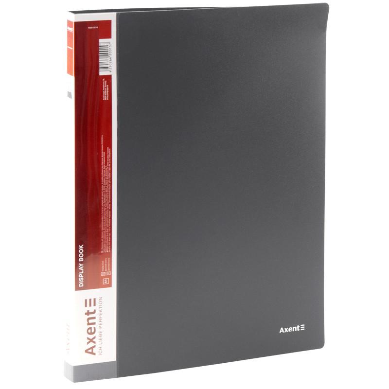 Дисплей-книга Axent А4 папка с 20 файлами серый (1020-03-A)