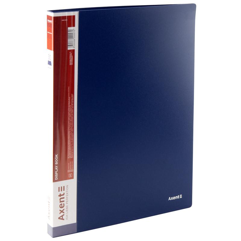 Папка з файлами Axent А4 дисплей-книга 30 файлів синя 1030-02-А