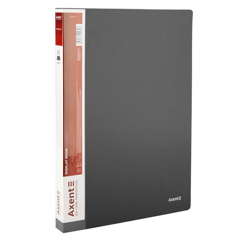 Дисплей-книга Axent А4 папка с 40 файлами серый (1040-03-A)