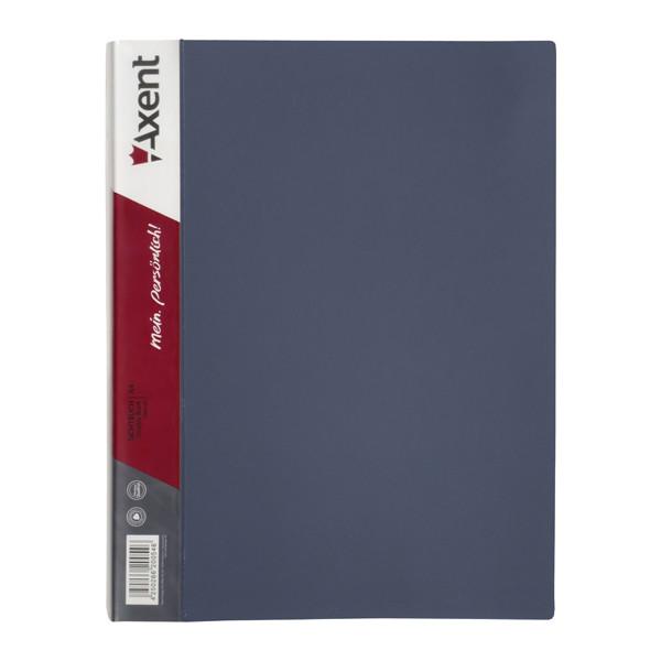 Дисплей-книга Axent А4 папка с 60 файлами серый (1060-03-A)