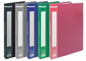 Дисплей-книга Buromax А4 папка с 20 файлами микс 5 цветов (BM.3606-99)