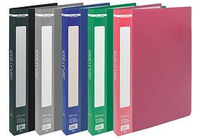 Дисплей-книга Buromax А4 папка с 30 файлами микс 5 цветов (BM.3612-99)