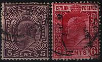 Цейлон Ceylon 1908 год