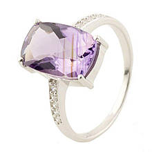 Серебряное кольцо DreamJewelry с натуральным аметистом (0514611) 18.5 размер