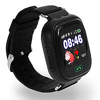 Детские смарт-часы UWatch Q90 Black с кнопкой SOS и GPS трекером 1058-8040, КОД: 1583845