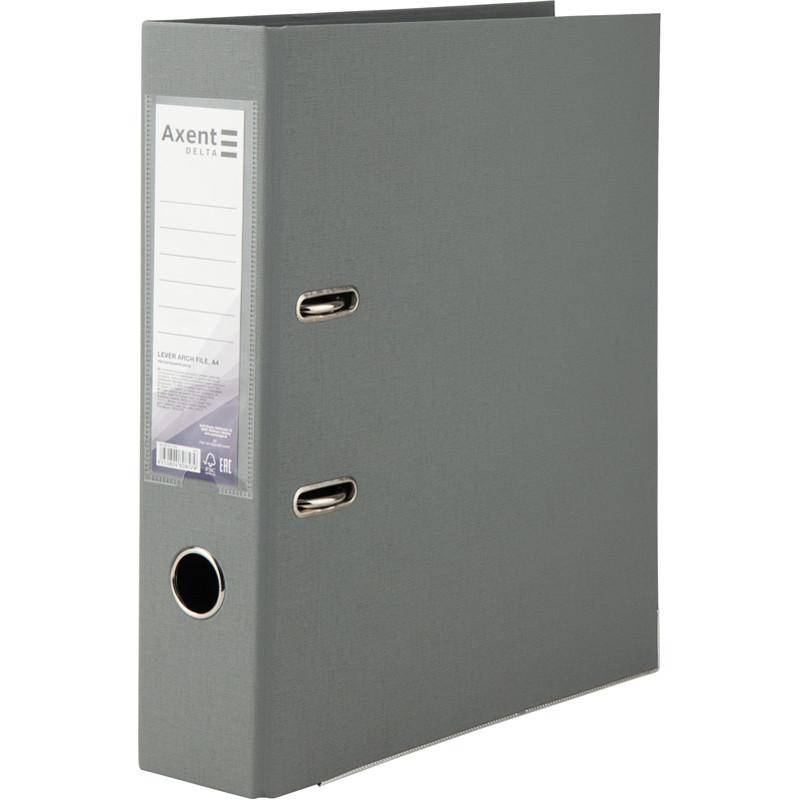 Регистратор 7,5 см Axent PP А4 двухсторонняя серый Delta (D1712-03C)