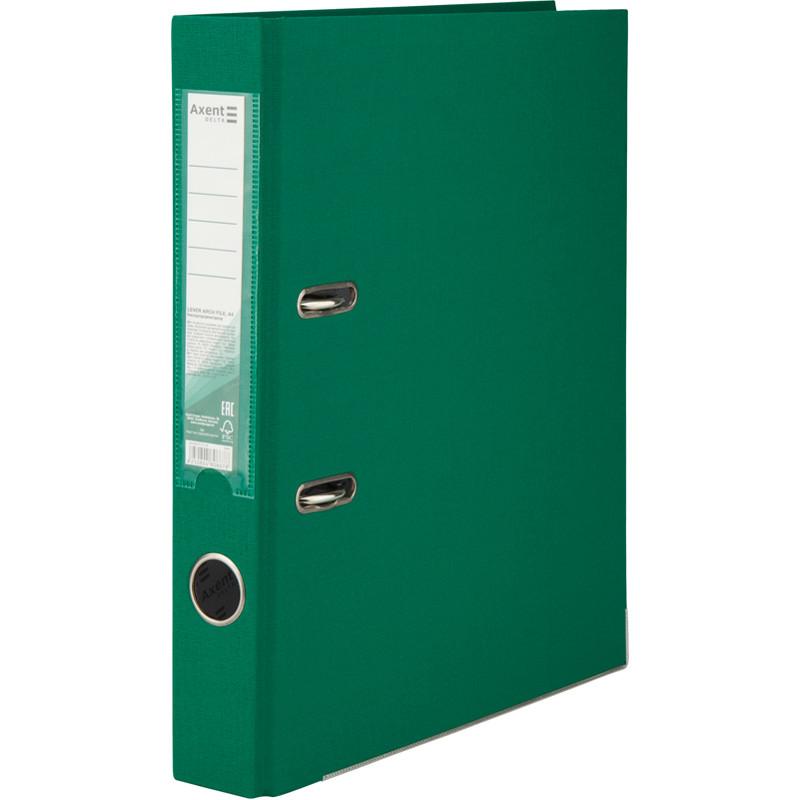 Регистратор 5 см Axent PP А4 двухсторонняя зеленый Delta (D1713-04C)