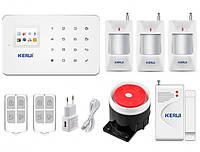 Комплект беспроводной GSM сигнализации для дома, дачи, гаража Kerui alarm G18 OFHFBBEG679FUNJ, КОД: 1633405