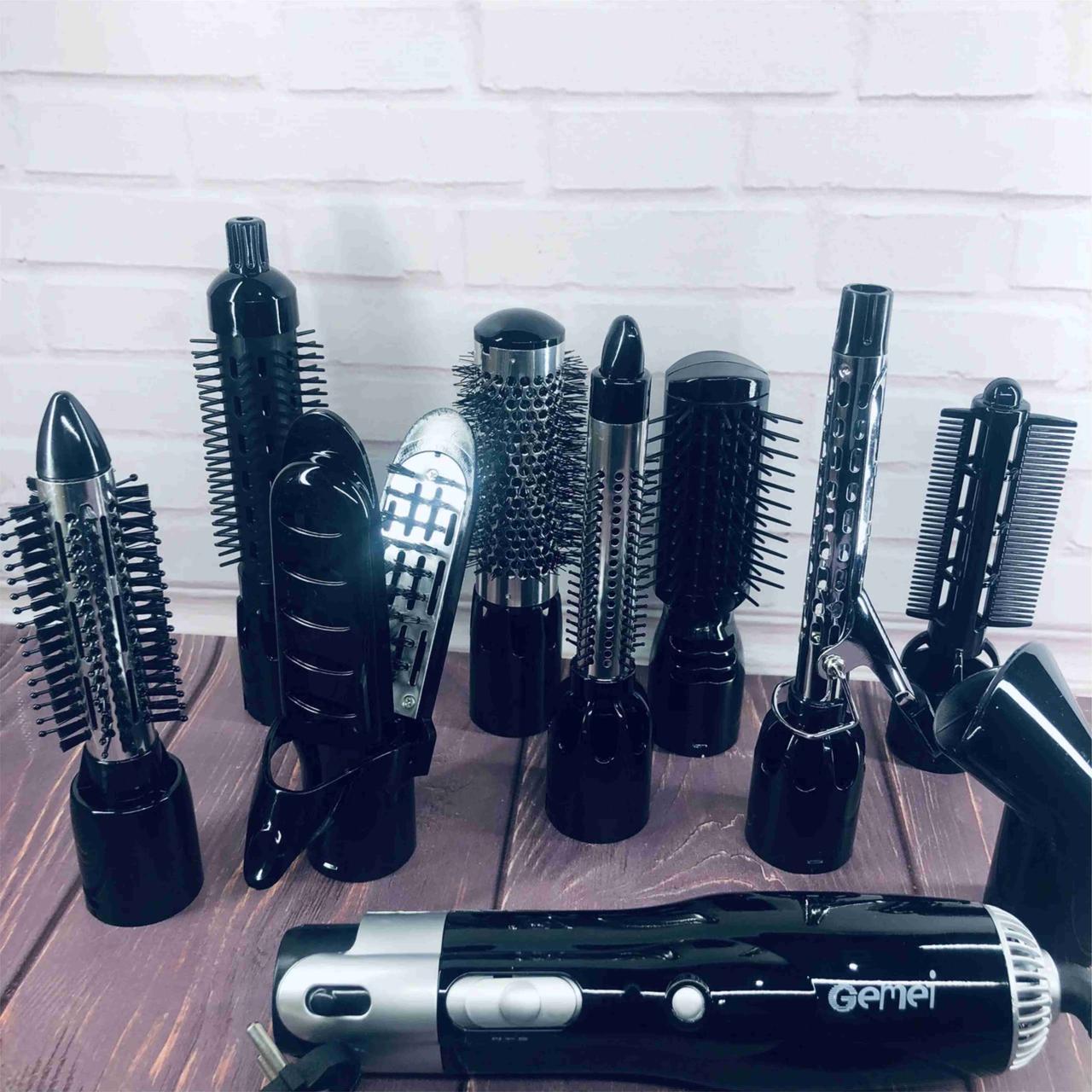 Фен Стайлер для волос 10в1 Gemei GM4833 Мощный фен стайлер для волос 10 в 1