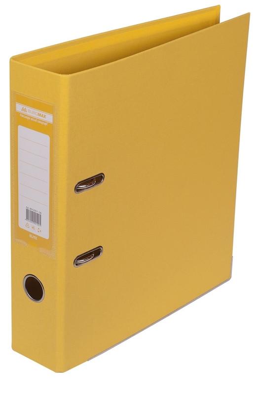 Регистратор 7 см Buromax PP А4 двухсторонняя желтый (BM.3001-08c)