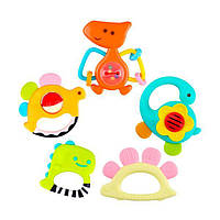 Брязкальце Hola Toys Динозаври, 5 шт. в коробці (1109), фото 1