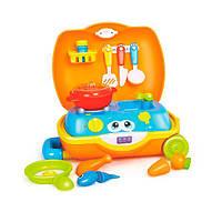Игровой набор посуды в чемодане Hola Toys (3108), фото 1