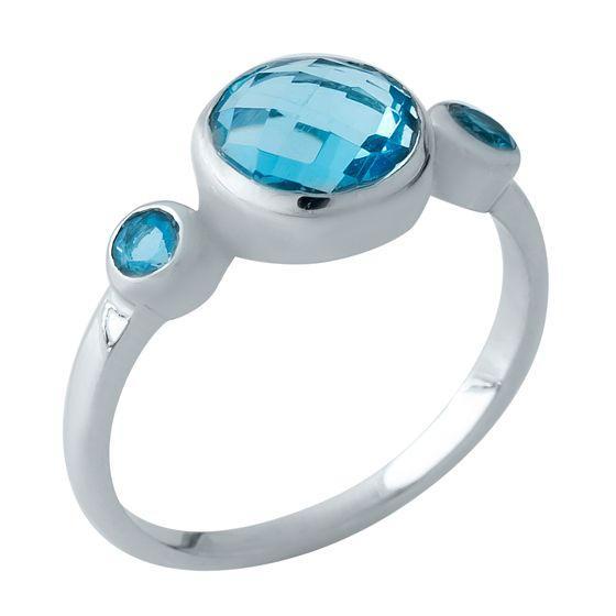 Серебряное кольцо DreamJewelry с аквамарином nano (1969021) 18 размер