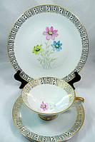 Чашка, блюдце, тарелка, чайное трио, Германия, фарфор 13, фото 1