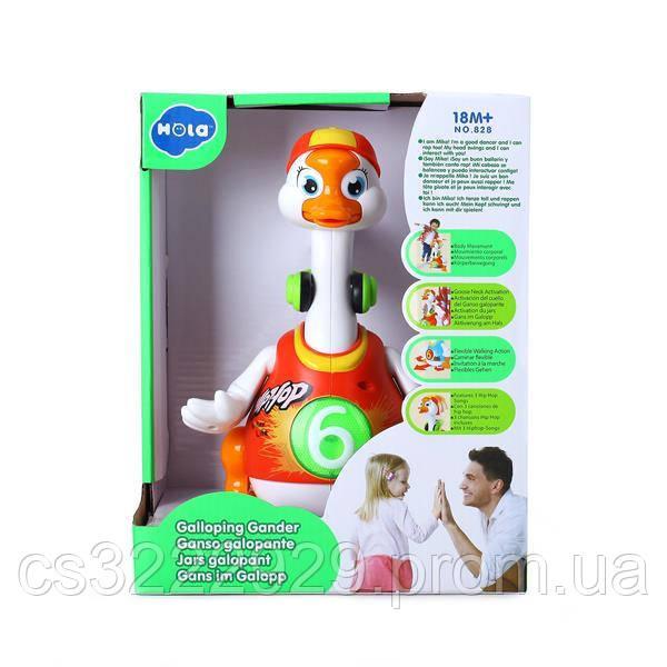 Музыкальная игрушка Hola Toys Танцующий гусь (828-red)