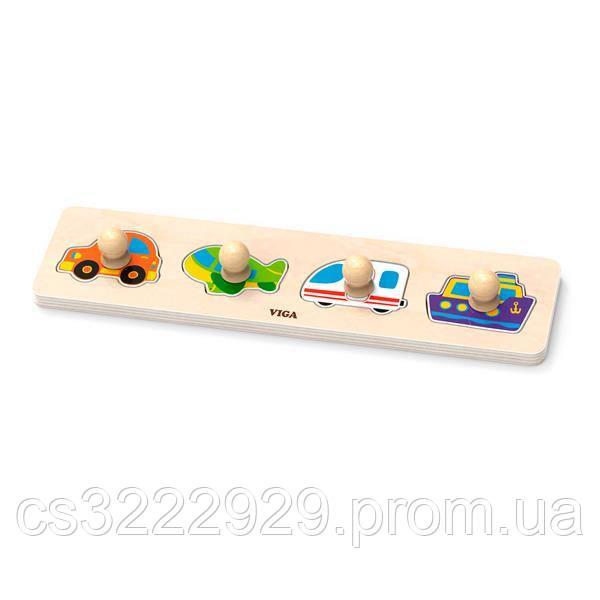 Рамка-вкладыш Viga Toys с ручками Транспорт (44534)