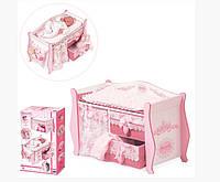 Детская деревянная игрушка DeCuevas Кровать 54421 М-6903185037011, КОД: 1706124