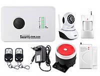 Охранный комплект сигнализации Alarm System GSM G10C + WI-FI IP камера FDHHHDF87DFGH, КОД: 1632109